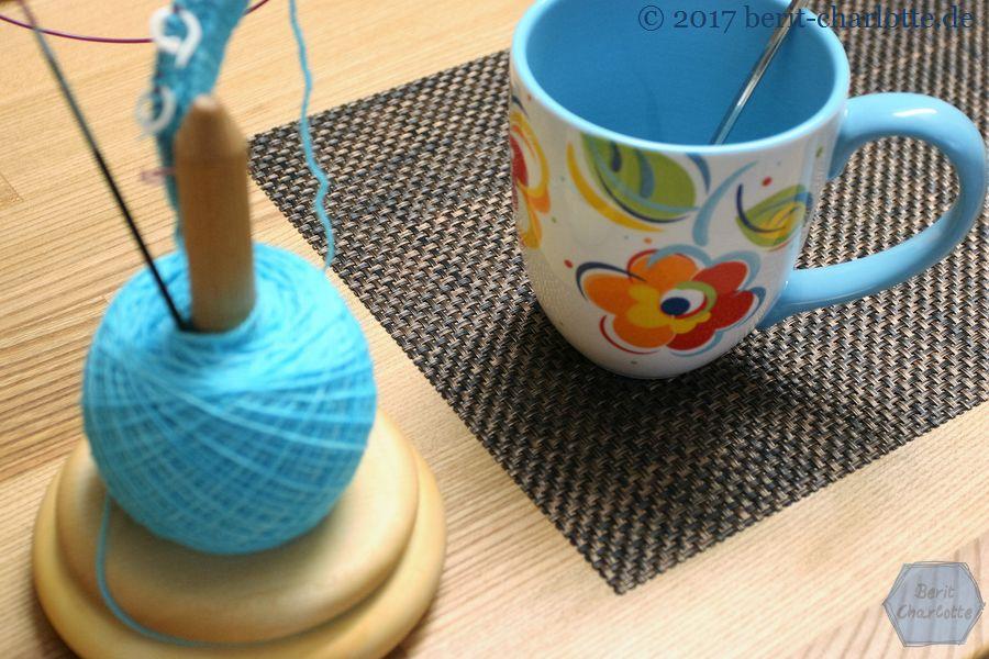 Tee am Morgen - natürlich mit Strickzeug