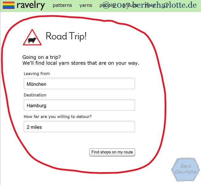Ravelry - Wolle kaufen während einer Reise
