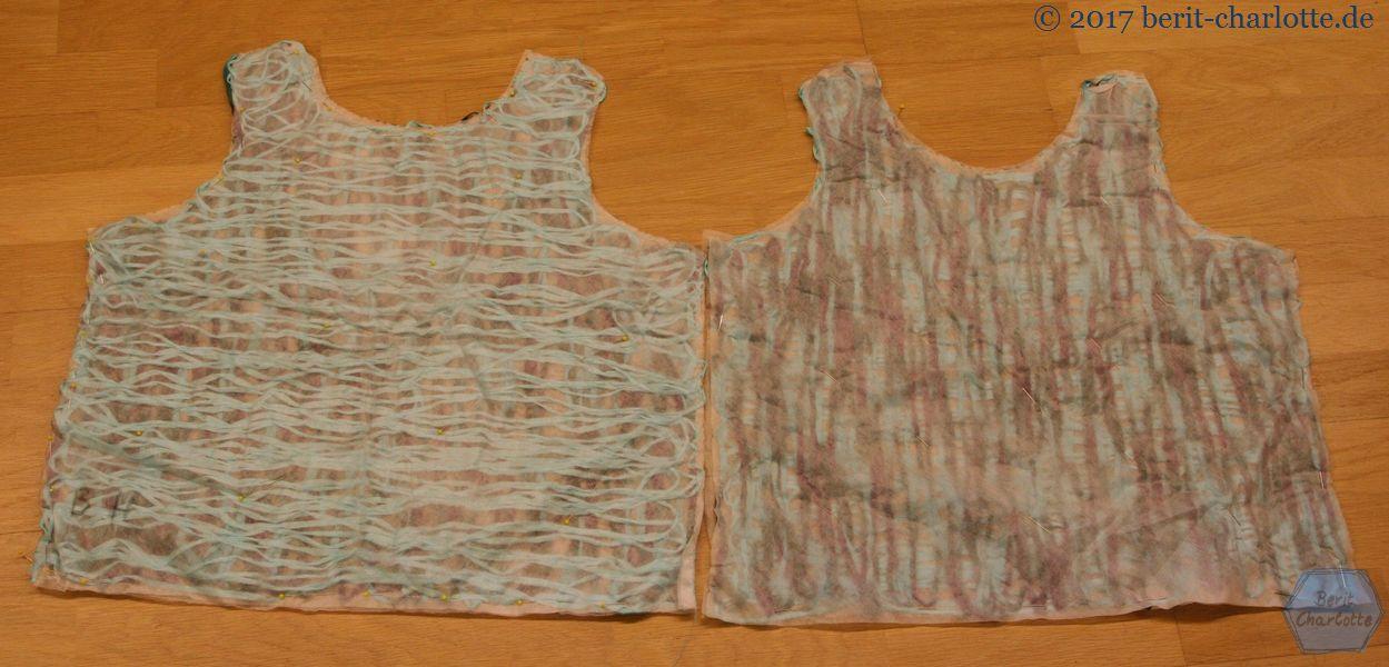 Vorder- und Rückseite beim anderen Shirt