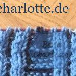 Detailaufnahme Teststricktuch aus Sockenwolle