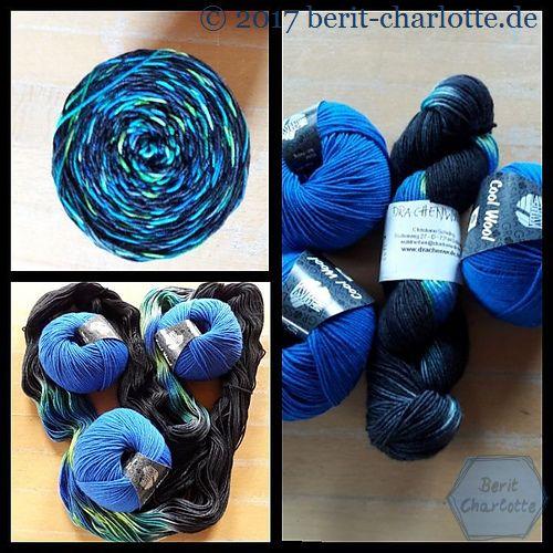 Die Wolle von Sabine. Drachenwolle kombiniert mit Cool Wool von Lana Grossa.