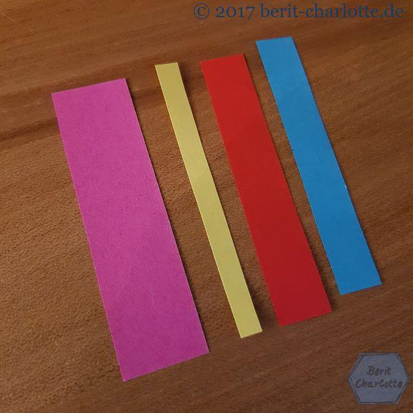 Streifen für die Patchwork-Quadrate