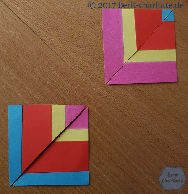 Und die beiden mittleren Dreiecke auch.