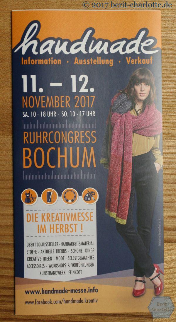 Der Flyer der Handmade Bochum 2017.