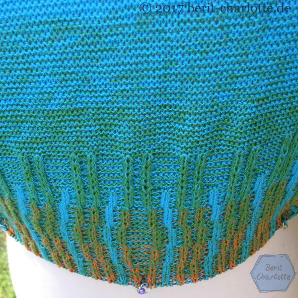 Detailansicht von meinem Tuch Nr. 2 - rückwärtige Mitte
