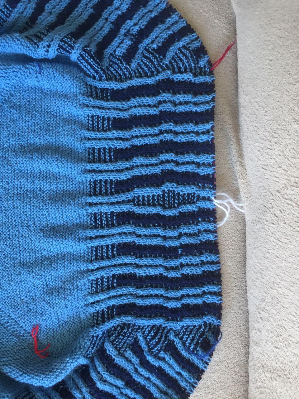 Petras Tuch aus Sockenwolle - Version 3.