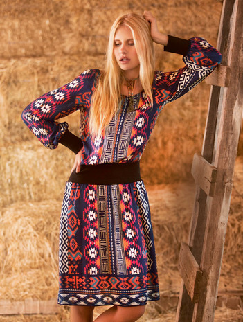 Sweaterkleid aus der Burda 08.2015 #116A Quelle: Burda