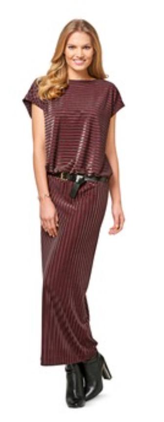 Maxikleid - Variante aus dem Burdaschnitt Kleid H/W 2017 #6453A Quelle: Burda