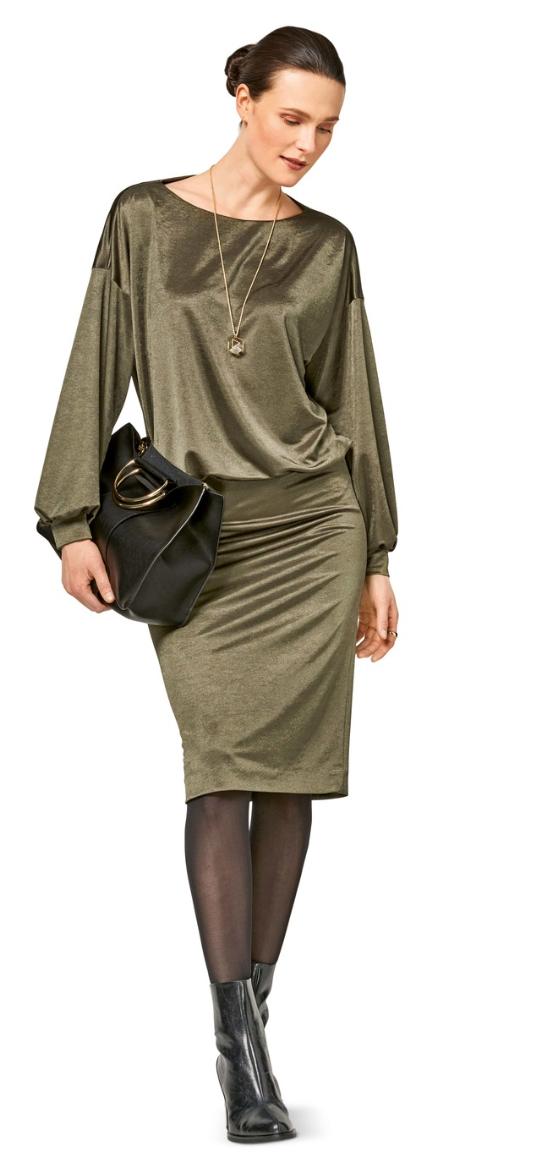 Shirtkleid - Variante aus dem Burdaschnitt Kleid H/W 2017 #6453A Quelle: Burda