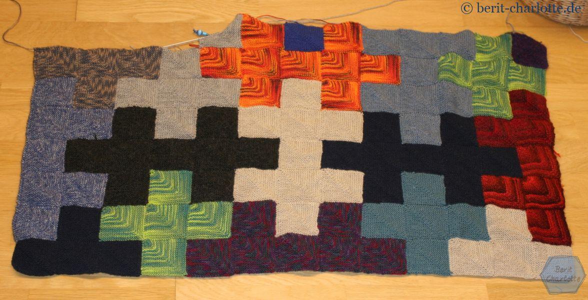 mein Jigsaw Afghan - Decke aus Sockenwolle