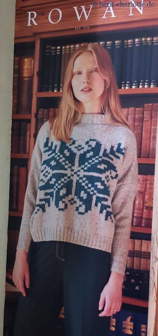 Pullover mit großem Norwegermuster von Rowan / Schchenmayr
