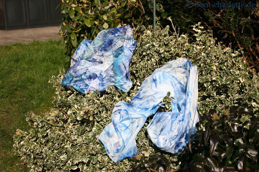 Tuch Nr. 2 und Tuch Nr. 3 - Ich glaube, Frühling und Sommer werden maritim.