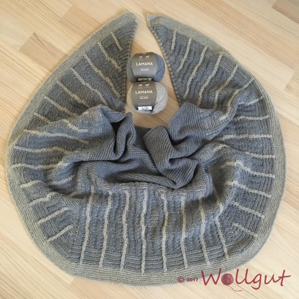 Dieses Tuch hat Jutta von Wollgut gestrickt.