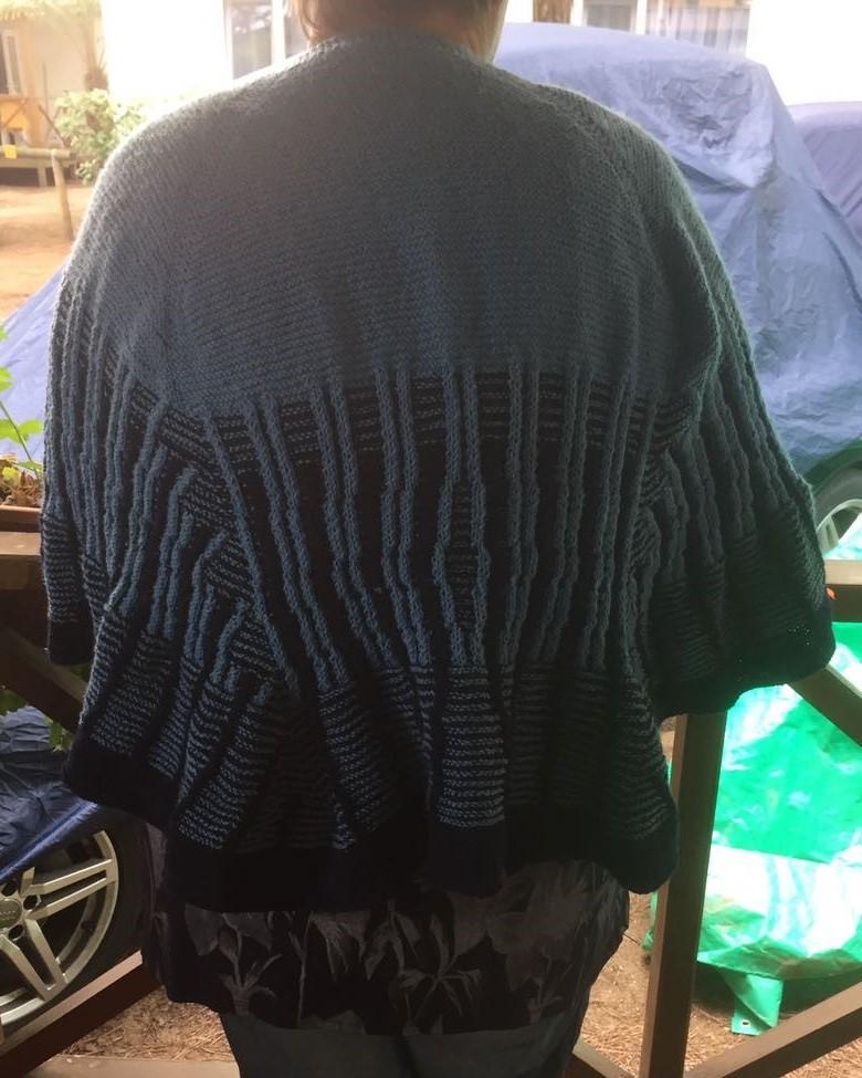 Dieses Tuch ist von Petra, einer meiner Teststrickerinnen.