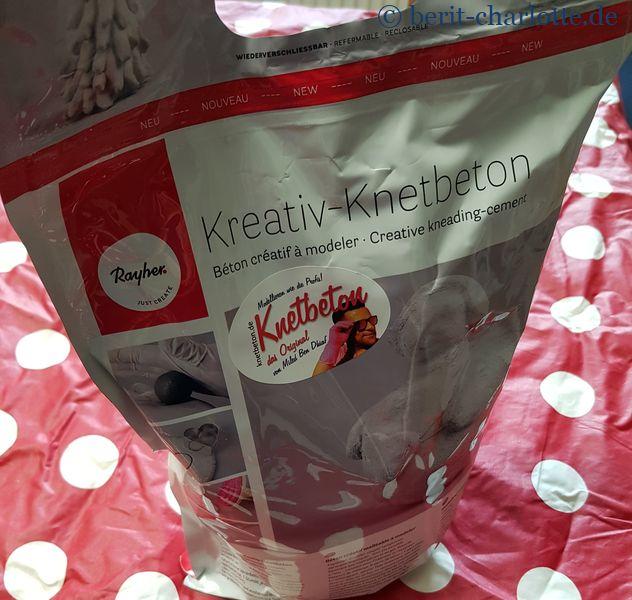 Knetbeton - Pulver in der 3-kg-Tüte