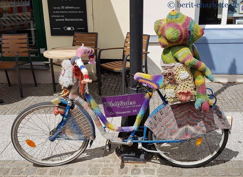 ein bestrickendes Fahrrad
