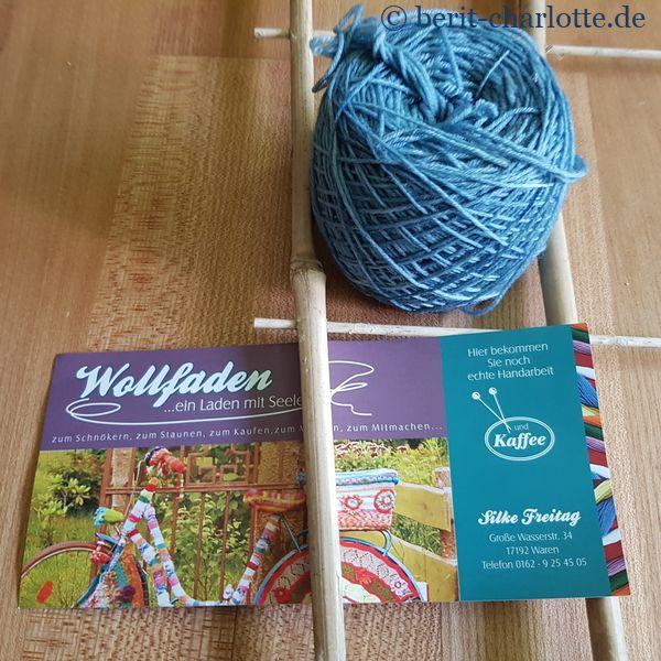 pflanzengefärbte Sockenwolle