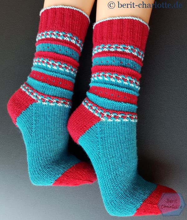 Ein glattgestrickter Fuß ist auch für enpfindliche Trägerinnen geeignet.