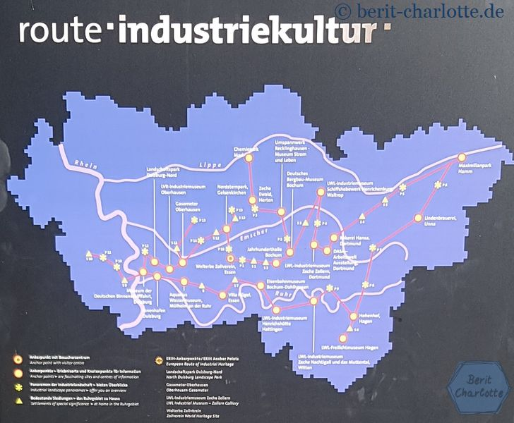 Übersichtskarte Route Industriekultur