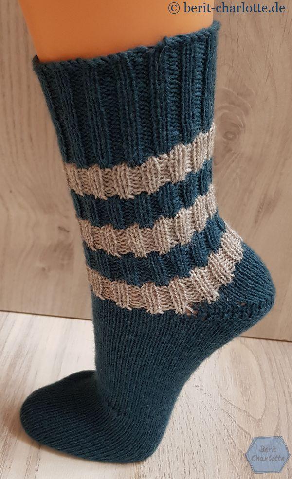 Socke Nr. 3 - zweifarbig, gut geeignet für Reste