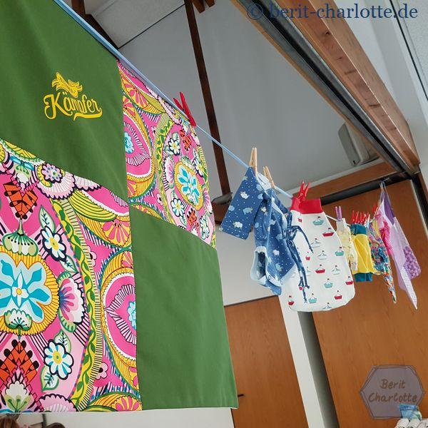 Eine kleine Auswahl der möglichen genähten Sachen. Auch Decken oder Pucksäcke sind dabei.