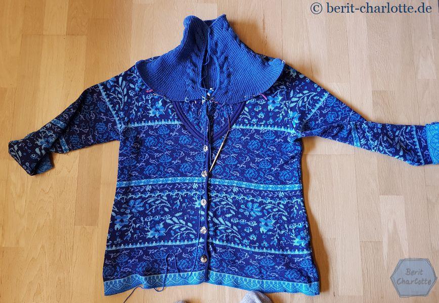 So soll auch ungefähr die Form der neuen Jacke werden - eine ganz leichte A-Linie.