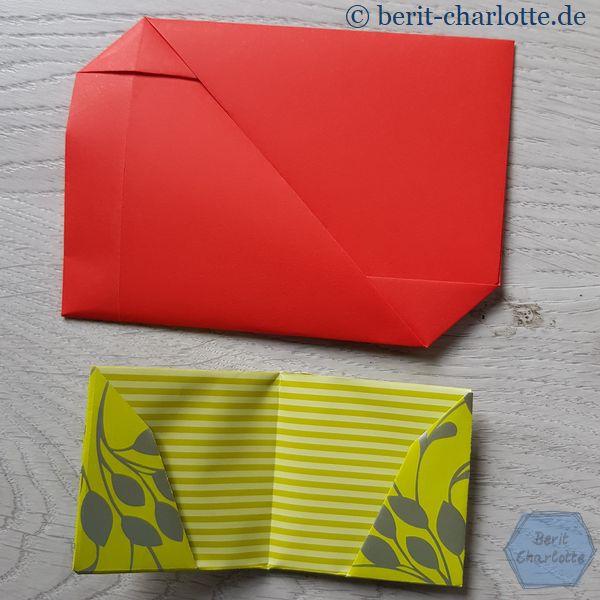 """In den unteren """"Umschlag"""" könnte man ein Kino- oder Theaterkarte als Geschenk klemmen."""