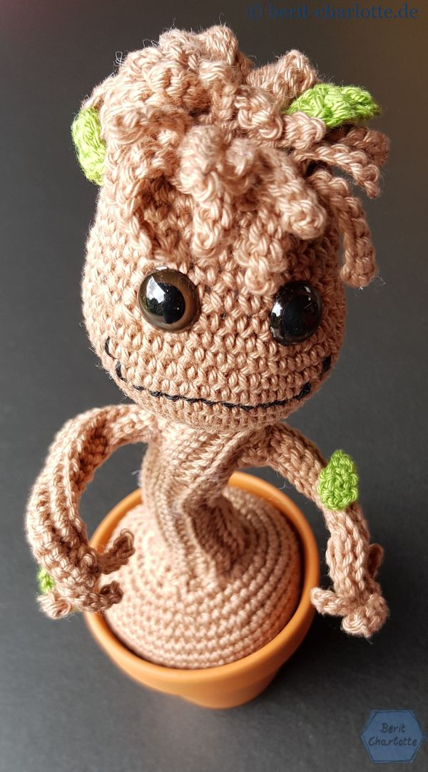 Patrón de Groot (free Guardians of the galaxy pattern) Amigurumi ... | 1081x600