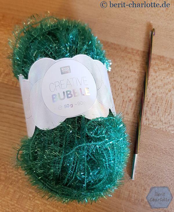 Das grüne Garn für den Waschhandschuh hat die Farb-Nr. 19.