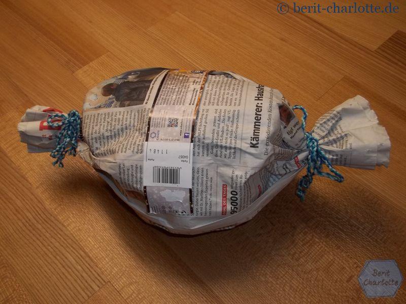 Das Wickelknäuel - bereit zum Verschenken!