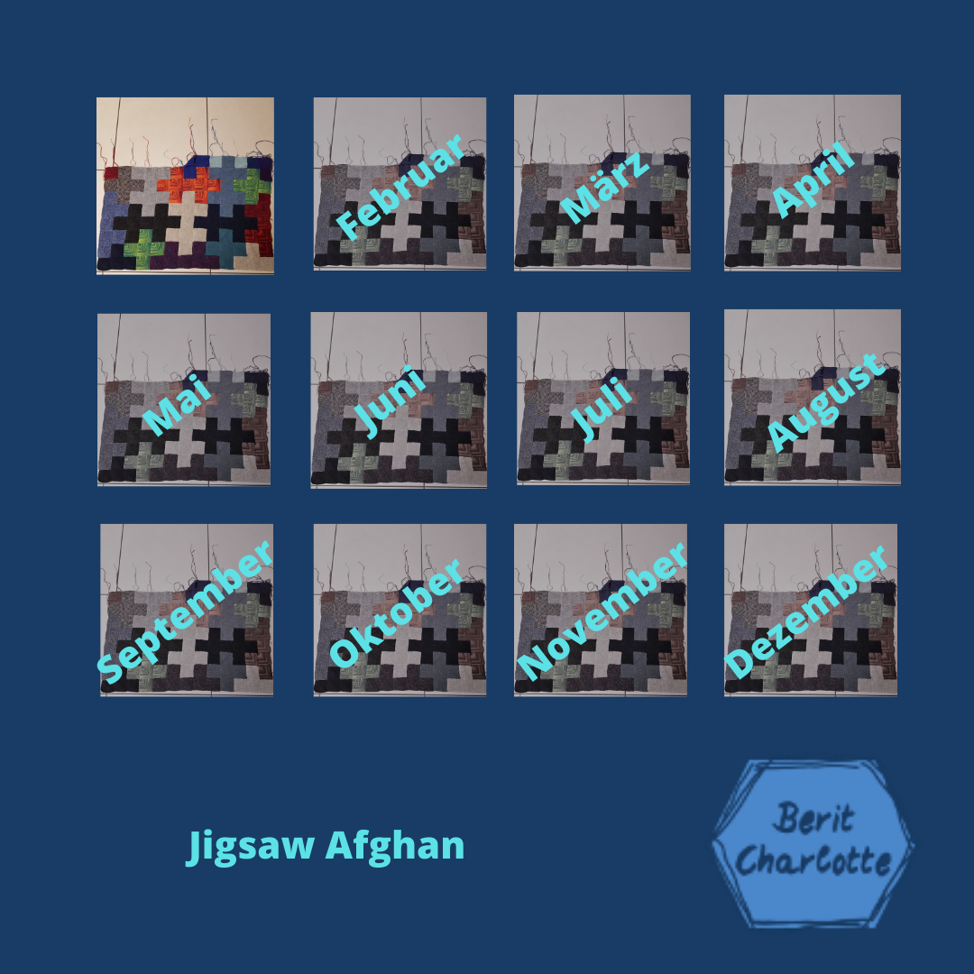 Collage Jigsaw-Afghan - Januar 2020