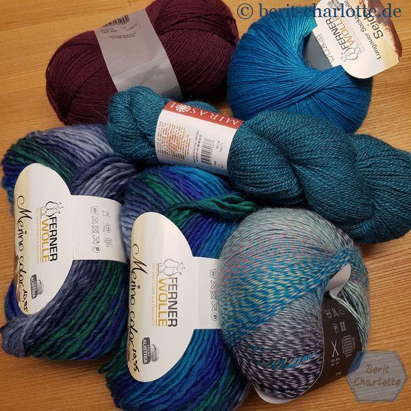 Wie immer sieht man bei meinen Einkäufen ganz deutlich, welche Farben ich bevorzuge. Bis auf das Lila oben links- das ist nicht für mich!