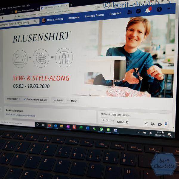 Die Gruppe vom Blusenshirt-Sew-and Style-Along trifft sich auf Facebook.