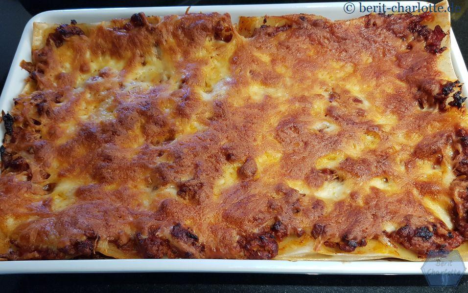 Am Abend gab es dann noch Lasagne.